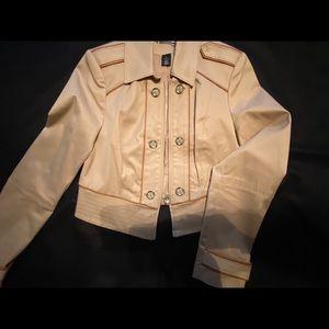 WHBM tan military jacket